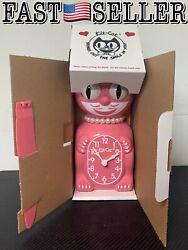 Limited Edition Classic Vintage Retro Lady Kit-Cat Klock Strawberry Pink Clock