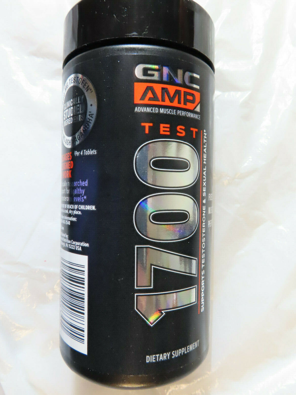 GNC AMP 1700 TEST 120 TAB EXP.11/2021+ BRAND NEW, FACTORY SEALED