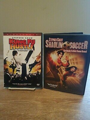 Stephen Chow 2 Dvd Lot - Kung Fu Hustle And Shaolin Soccer Martial Arts Comedy