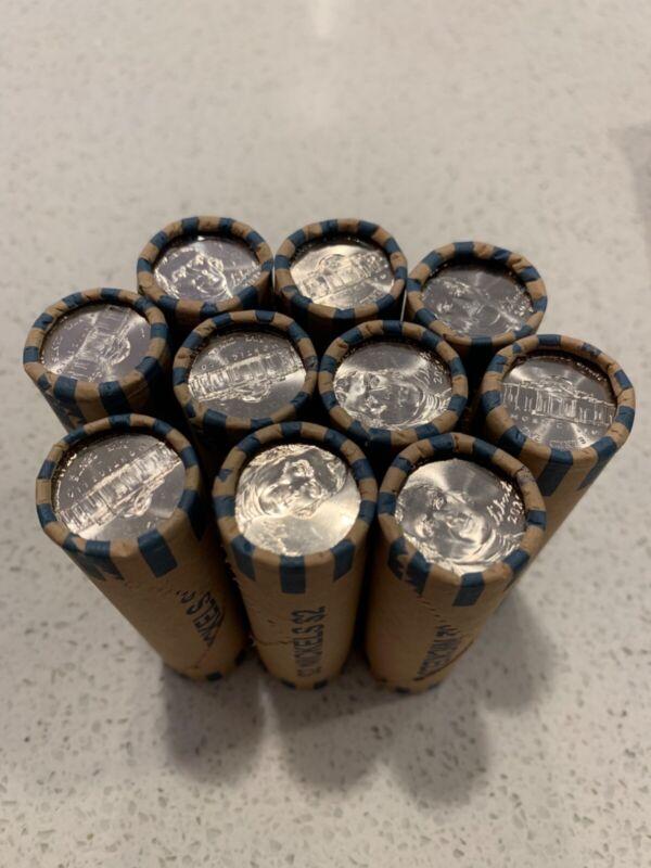 2020 P Jefferson Nickel BU Roll Philadelphia Uncirculated - 1 Roll