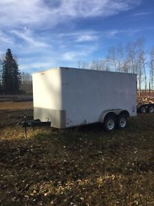 2008. 14'Outback enclosed trailer