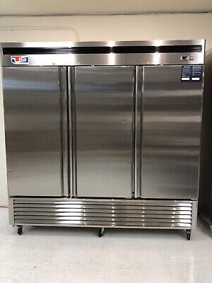 Us Inc. B Series 3 Door Reach-in Vertical Cooler.