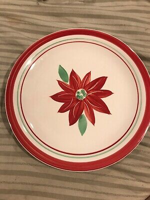 """Collection Poinsettia - Mulberry Home Collection Poinsettia 10.5"""" Dinner Plate New With Tag"""