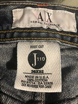 Armani Exchange Jeans Button Up 36 X 32