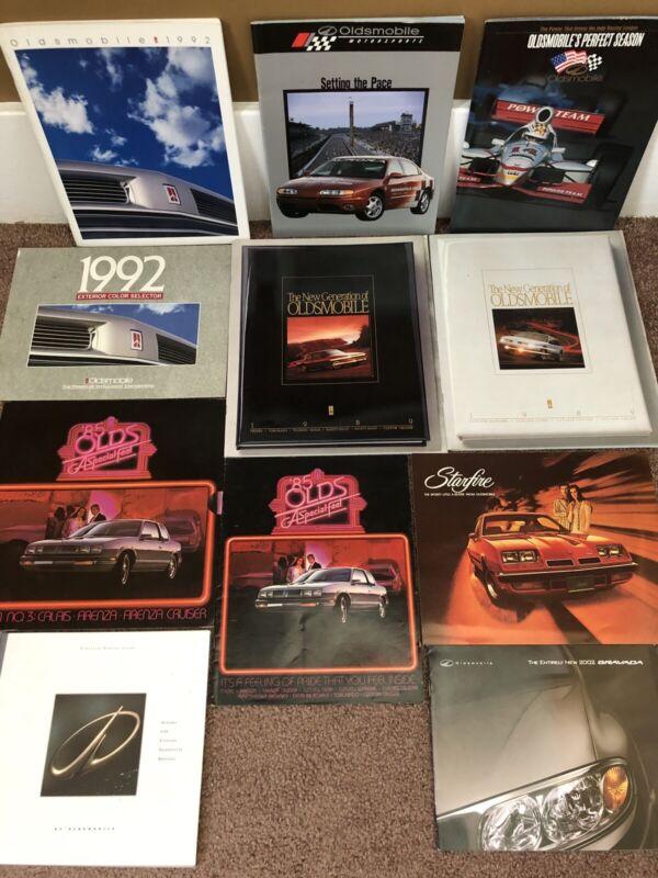 Vintage 1980s-90s Oldsmobile Car Dealer Showroom Sales Brochure Lot Of 11