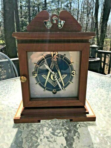Beautiful Masonic Desk Clock - Custom Made