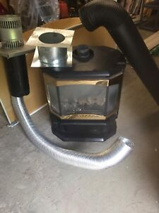 Gas fireplace with venting