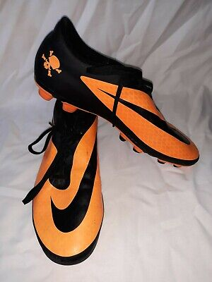 15097f9d24a Mens NIKE Orange black Hypervenom Soccer Cleats Shoes Size 11 US skulls cool