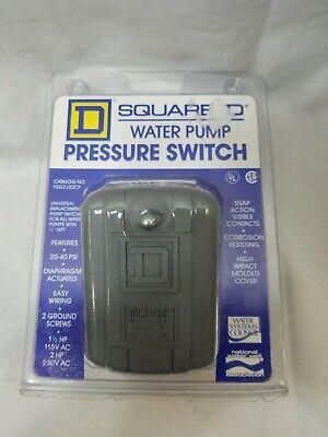 Water Pump Pressure Switch Schneider Electric Square D 2040 Psi