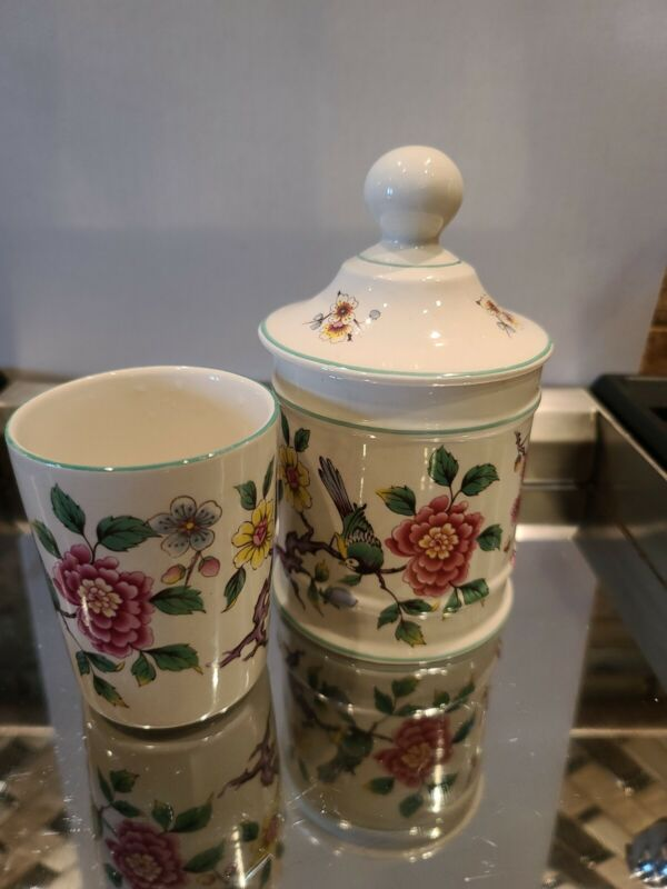 Chinese Rose, By Old Foley, James Kent LTD Staffordshire, Jar and Cup