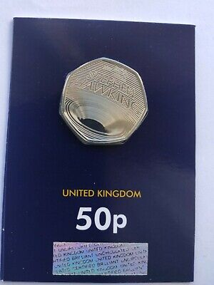 2019 STEPHEN HAWKING 50p COIN, BRILLIANT UNCIRCULATED BUNC from WESTMINSTER COLL
