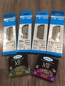 SHIMANO KMC 10 & 11 SPD Bicycle Chains SLX XT Ultegra 105 X11.93