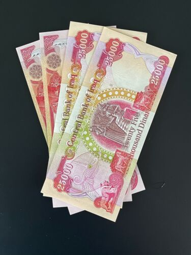 100,000 IRAQI DINAR, IQD - (4 Banknotes) Uncirculated, Authentic and New