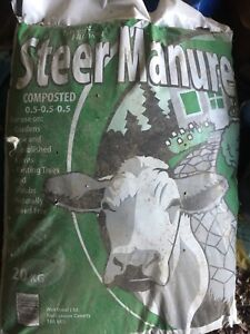 Great deal for bags of soil, steer manure, and flower mix.