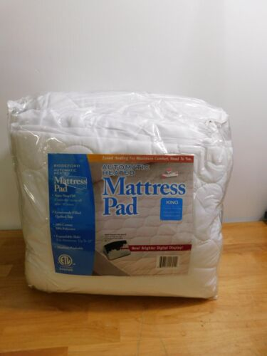 Biddeford Zoned Heated Automatic Heated Mattress Pad-King-Wh