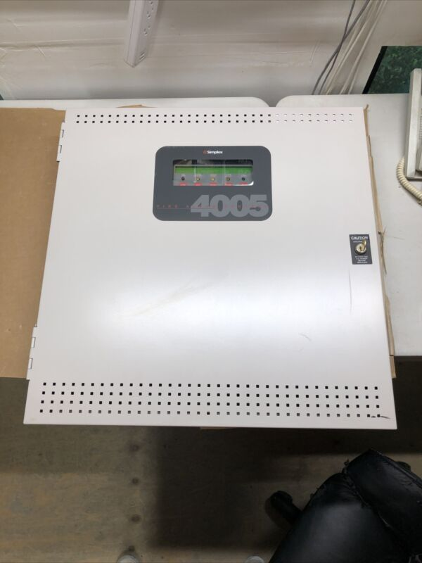 SIMPLEX 4005 FIRE ALARM CONTROL PANEL W 6 BOARDS AND 2 POWER SUPPLIES COMPLETE