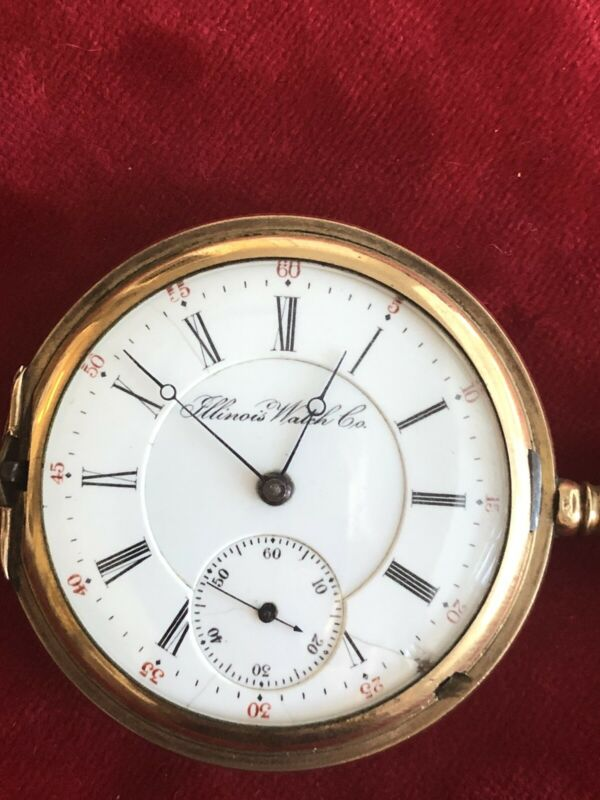 Illinois Watch Co. Vintage Hunters Pocket Watch 17 Jewels 1495740