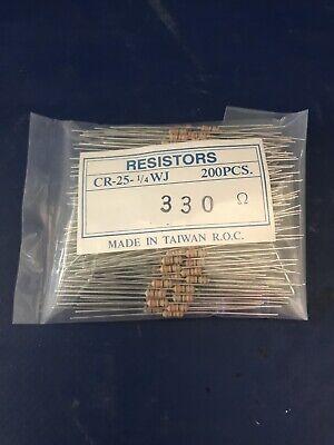 New  200pcs Carbon Film Resistor Cr-25-14wj  330 Ohm