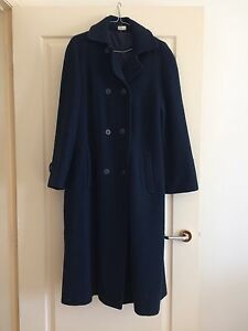 Navy Double breasted Woollen Coat . Size 14 North Turramurra Ku-ring-gai Area Preview
