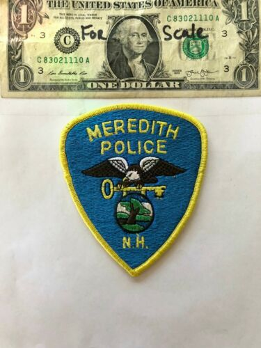 Meredith New Hampshire Police Patch un-sewn in mint shape