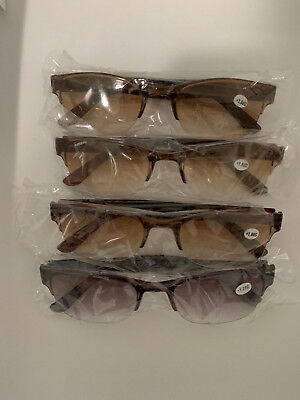 4 Pack    Outdoor Sunglasses  -  A Clear Lens Readers For Men & (Sunglasses Readers For Men)
