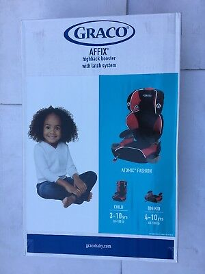 - GRACO AFFIX highback booster with latch system (ATOMIC - FASHION )
