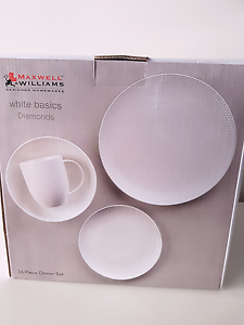 Maxwell and Williams white diamonds plates Yowie Bay Sutherland Area Preview