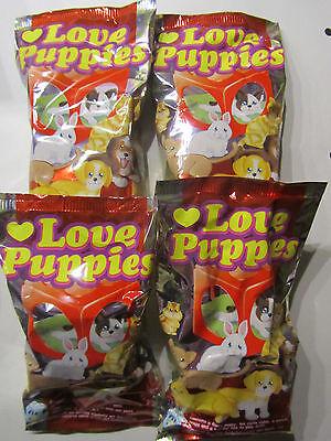 Love Puppies * 4 Tüten * Tiere im Stapelwürfel * edibas * Neu * OVP