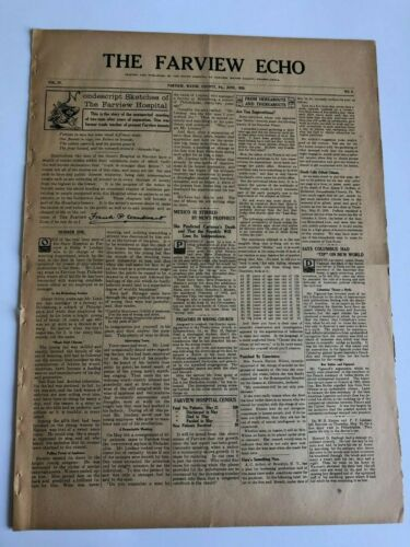 1920 Newspaper, Farview Hospital Insane Asylum, Waymart PA - Patient Stories