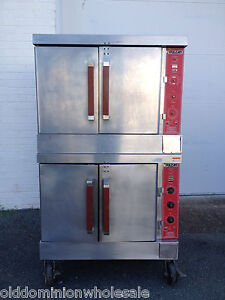 Used Vulcan Oven VC4GD Full Size Double Stacked Gas Convection Ovens ...