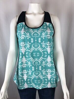 Fabletics Zion Tank Top Size Large Strappy Back Built In Bra Athletic Yoga
