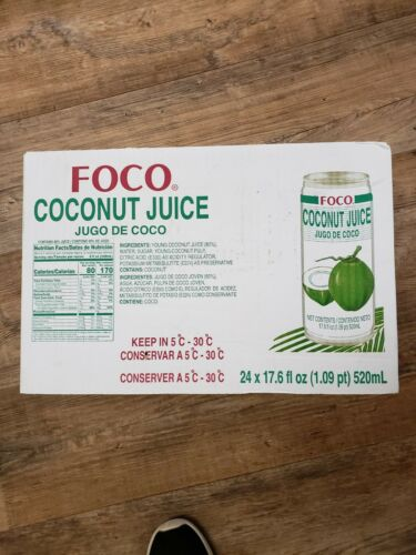 FOCO Coconut Juice 17.60 Ounce Pack of 24