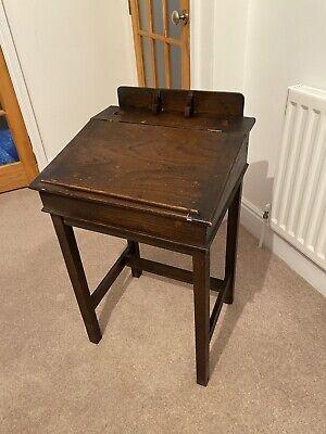 Edwardian Vintage School Desk - Original Wood