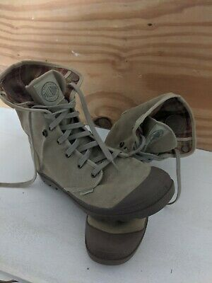 Mens Palladium Baggy Canvas Tan Boots Size 13
