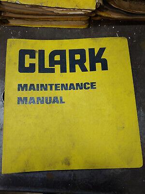 Clark Michigan 475b Tractor Shovel Maintenance Manual No.3141
