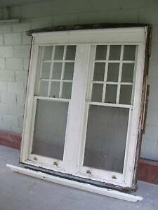 GREAT LARGE  SOLID TIMBER TWIN DOUBLE HUNG SASH WINDOW 3 Toorak Stonnington Area Preview