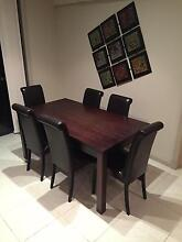 Dining table & 6 leather chairs Marsfield Ryde Area Preview
