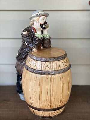 Emmett Kelly Flambro Cookie Jar From estate of collector. See Full Description.