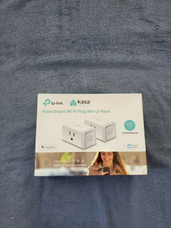 TP-Link - Kasa Smart Wi-Fi Plug Mini (2-Pack) - White