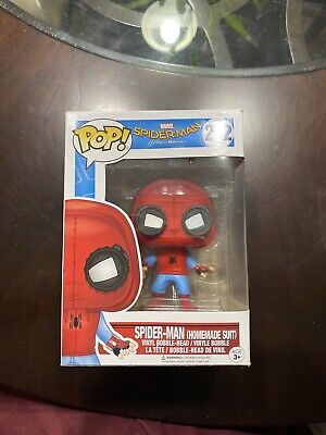 FUNKO POP VINYLS SPIDER-MAN HOMECOMING HOMEMADE SUIT PETER PARKER SPIDERMAN 222