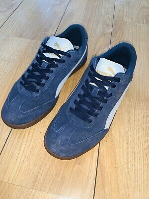 Puma liga Mens Trainers Size Nine Navy Suede