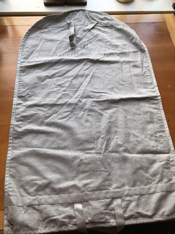 Authentic Brunello Cucinelli Linen Garment Bag Suit Coat Dust Cover Travel