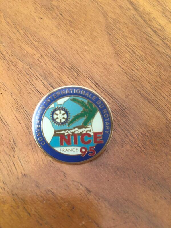Rotary International Convention Nice 1995 France Pin PinBack
