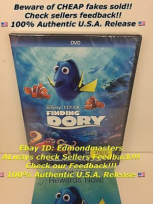 FINDING DORY 2016 DVD Brand New (Beware of Cheap Fakes w/o Disney Rewards!!!) - Cheap Disney Movies
