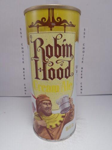 RARE ROBIN HOOD CREAM ALE 16oz STRAIGHT STEEL PULL TAB TEST BEER CAN #224-22