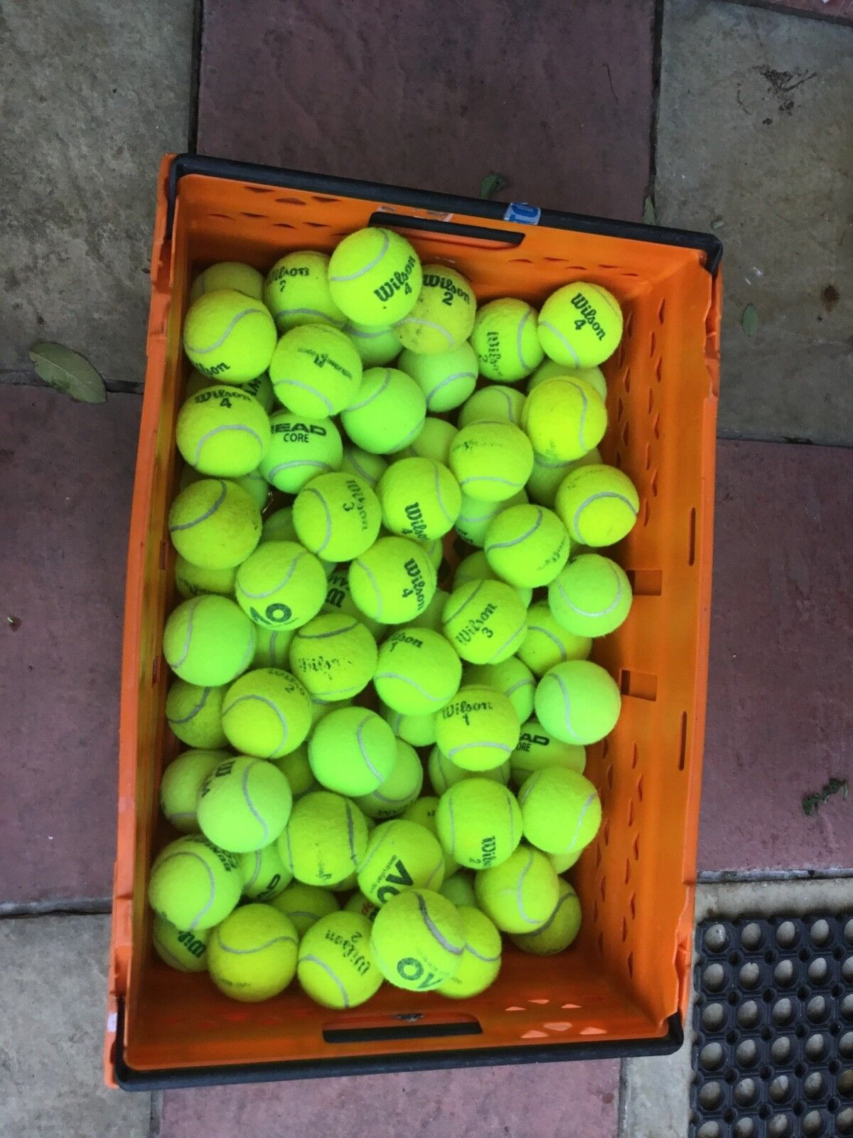 50 GOOD USED TENNIS BALLS-MAINLY WILSON