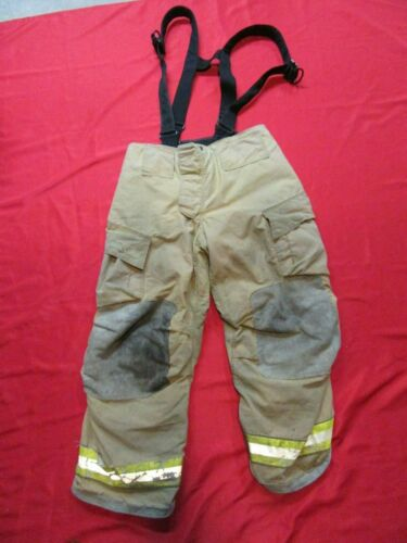 36 x 28 Cairns REAXTION Firefighter Pants W Suspenders Bunker Turnout Fire Gear