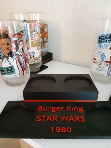 Burger King Star Wars 1980 Glass Set Display Empire Strikes Back