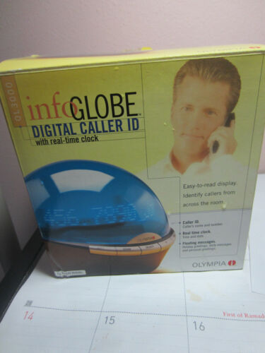 Olympia Infoglobe Floating LED Messaging Globe BLUE New in Open Box # 1565 uu