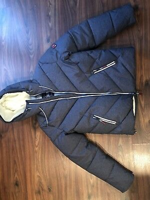 Superdry Men's Xenon Quilted Padded Jacket, Navy/Dark Gray Size: XL